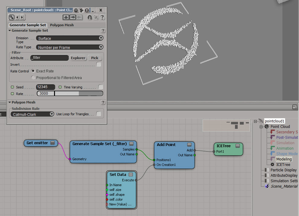 Using a texture map to filter a sample set | eX-SI